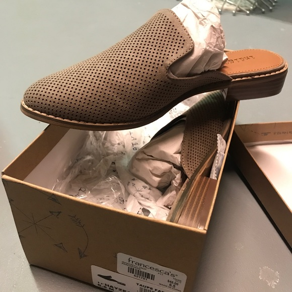Francesca's Collections Shoes - NIB 6.5 super cute taupe pointed toe mules⚡️